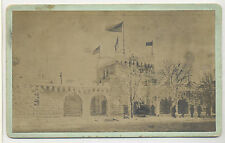 1899 ICE PALACE NIAGARA FALLS, N. Y. CABINET PHOTO WITH PRESENTATION INSCRIPTION