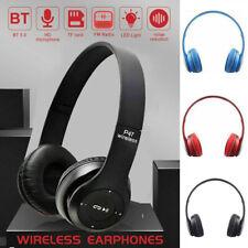Wireless Bluetooth Headphone Over Ear Foldable Stereo Headset Noise Cancel W/Mic