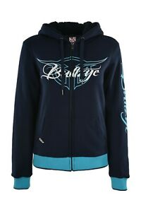 Bullzye Ladies Ryder Zip Hoodie- navy - Sizes 8 to 20