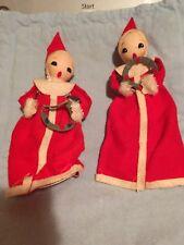 Vintage Felt Christmas Carolers Ornaments