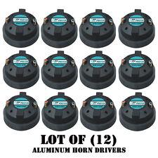 """Lot of (12) Pyle PDS122 1.5"""" Aluminum Horn Drivers 8 Ohm 1-3/8"""" x 18 TPI DJ Pro"""