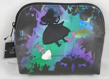 New Disney Alice In Wonderland Falling Silhouette Makeup Bag Cosmetic Tote Purse