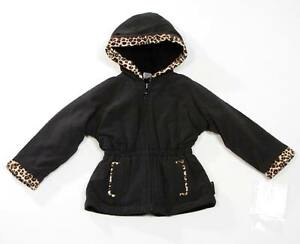 London Fog Reversible Hooded Winter Coat Jacket Black Leopard Infant 12 Months