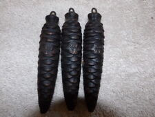 Three Cuckoo clock Weights 320 Black Forest Germany