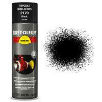 x 8 INDUSTRIEL Rust-Oleum noir brillant peinture en aérosol solide CHAPEAU 500ml