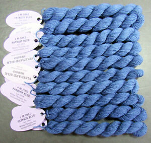10x Needlepoint/Embroidery THREAD WILTEX Vineyard 1 ply Merino wool-blue-VS57