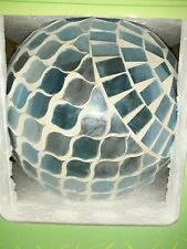 "Mosaic 8"" Glass Gazing Ball Blue Color Patio, Yard, Garden Decor"