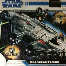 STAR WARS Legacy Collection Millennium Falcon with box 99% complete with figures