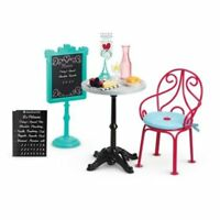 American Girl Grace 2015 Bistro Table,Chairs,Food Accessories - New NRFB