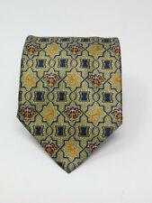 ITALO FERRETTI Men's 100% Silk  Necktie ITALY Luxury Geometric 58in Long