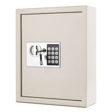 Key Cabinet Digital Lock (Gray), Wall Mounted 40 Key Security Box Storage Safe