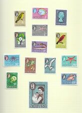 St Helena 1961 definitive set  mint