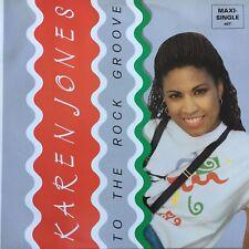 vinilo - Karen Jones-a the rock groove Italia 1989 maxi vinilo