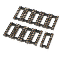 10pcs Round Hole 16 Pins 2.54MM DIP IC Sockets Adaptor Solder Type