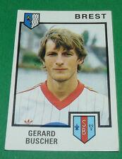 N°59 GERARD BUSCHER STADE BRESTOIS BREST PANINI FOOTBALL 85 1984-1985