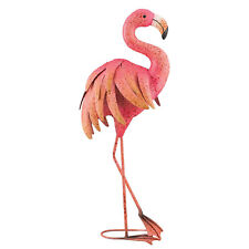 Pink Flamingo 25in Metal Art Garden Stake Bird Yard Pond Decoy Patio Home Decor