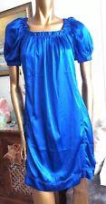 DKNY JEANS DRESS,ROYAL BLUE SILK DRESS,summer Dress US4,UK8 S Or Tunic/blouse