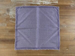 TOM FORD lavender polka dots silk pocket square authentic