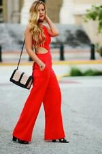 """BCBG Maxazria """"EMJAY"""" Red Berry Jumpsuit Size M NWT RETAILS  $298"""