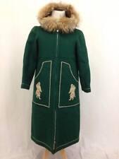 Vintage Tuktu Wool & Fox Fur Inuit Eskimo Parka Blanket Coat Size 12
