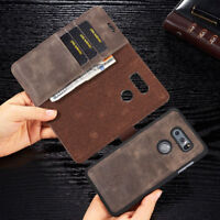 For LG G7/G6 V30 Leather Removable Stand Card Wallet Magnetic Flip Case Cover