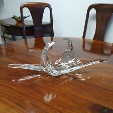 More details for vintage large art glass centerpiece bowl vase rare curve point 57cm 22.5