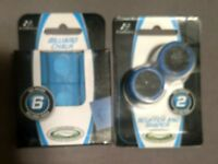 Cue Tip Scuffer and Shaper 2 sizes / Billiard Blue Chalk 6 pack Eastpoint