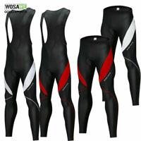 Men's Cycling long pants Bike bib tights zipper Trousers breathable Padded Pants