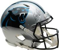 Christian McCaffrey Carolina Panthers Autographed Riddell Speed Authentic Helmet