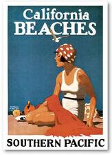 Cartel de Playas de CALIFORNIA Turismo Modernismo - 74x57cm. - Poster