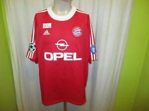 """FC Bayern Munich adidas Champions League Winner Jersey 2001 """" Vauxhall """" XXL"""