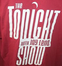 The Tonight Show With Jay Leno T-Shirt Men's XL Extra Large Red Late Night