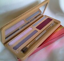 ESTEE LAUDER PURE COLOR LONG LASTING LIPSTICK EYESHADOW LEATHER CASE PLUM COOL