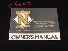 Original 1983 Nishiki Multi-Speed & Coaster Models Owner'S Manual