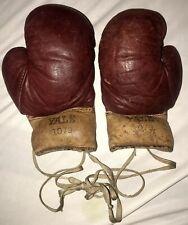 Tiny Vintage Yale Leather Boxing Gloves 3oz Antique Sports Box Childs Boys 1079