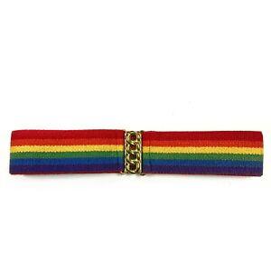 Vintage Elastic Rainbow Waist Belt