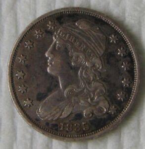 1835 Capped Bust Silver Quarter Dollar, 25C, High Grade!