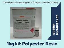 1 kg POLYESTER RESIN kit for Fibreglass (inc. Hardener) -FREIGHT PER DESCRIPTION