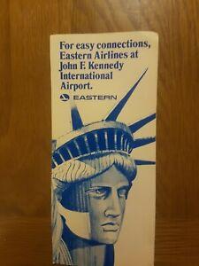 Eastern John F Kennedy International Airport Leaflet Circa 1980