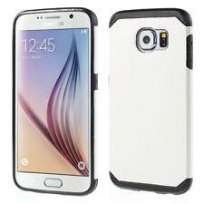 Samsung Galaxy S6 G920 TPU Hybrid Case Croco Muster Design Schutz Hülle Weiß