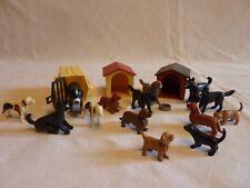 PLAYMOBIL animaux maison ferme nature 2 niches 1 caisse 12 chiens et 2 chiots
