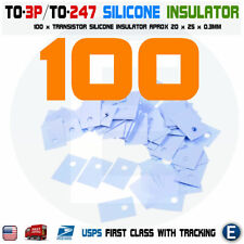 100PCS TO-3P TO-247 Transistor Silicone Insulator Pads Thermal Insulation Pad