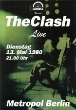 the Clash 1980 - Concert VINTAGE BAND POSTERS Rock Travel Old Advert #ob