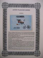 Irrtümer auf Briefmarken / Gambia 1986 Mi Block 24 : Modell Benz 8/20 - AMERIPEX