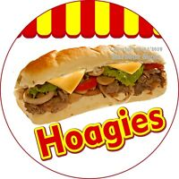 Hoagies Sandwich DECAL (Choose Your Size) Concession Food Truck Circle Sticker
