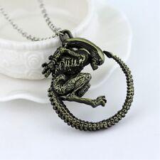 Classic movie Alien vs. Predator Alien monster pendant necklace copper