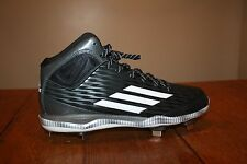Adidas Power Alley 3.0 Mid Men Baseball Black METAL CLEAT Sz 10.5
