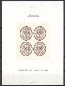 Lübeck Gedenkblatt Michelnummer  postfrisch  (europa:6944)