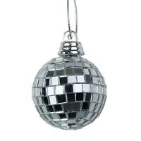 Silver Mini Disco Mirror Ball Xmas Tree Bauble Home Party Decorations Gift Craft
