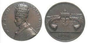 *TRIU* PIO XII MEDAGLIA s.d. CON PIAZZA SAN PIETRO - ROMA  in bronzo